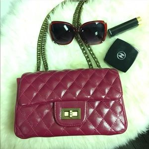 Handbags - Diamond quilted bag in Fuchsia